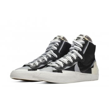 Shoes Hi top trainers Nike Blazer Mid x Sacai White Grey  Black/Grey/White