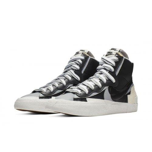 Shoes Hi top trainers Nike Blazer Mid x Sacai White Grey  Black/Grey/White
