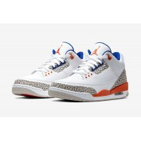 Shoes Low top trainers Nike Air Jordan 3 Knicks Rivals White/Old Royal-University Orange-Tech Grey