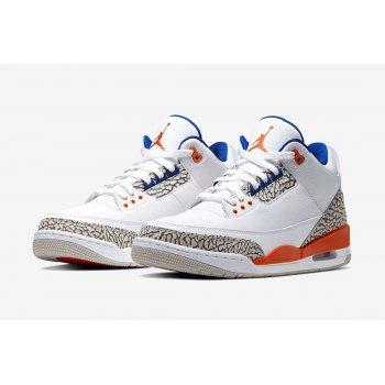Shoes Low top trainers Nike Air Jordan 3 Knicks Rivals White/Old Royal-University Orange-Tech Grey