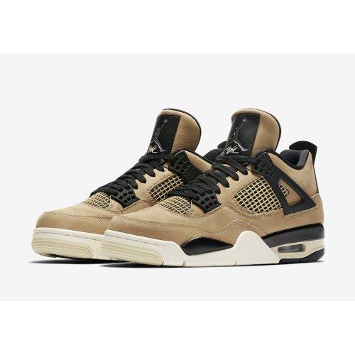 Shoes Hi top trainers Nike Air Jordan 4 WMNS Mushroom Black/Fossil-Pale Ivory/Mushroom