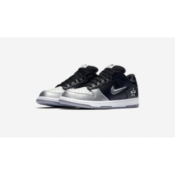 Shoes Low top trainers Nike SB Dunk Low x Supreme Silver-Black Metallic Silver/Metallic Silver-Black
