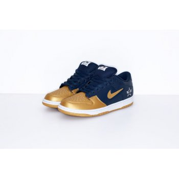 Shoes Low top trainers Nike SB Dunk Low x Supreme Metallic Gold Navy Metallic Gold/Metallic Gold-Navy-White