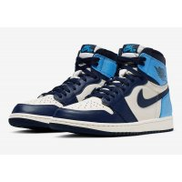 Shoes Low top trainers Nike Air Jordan 1 High Obsidian Sail/Obsidian-University Blue