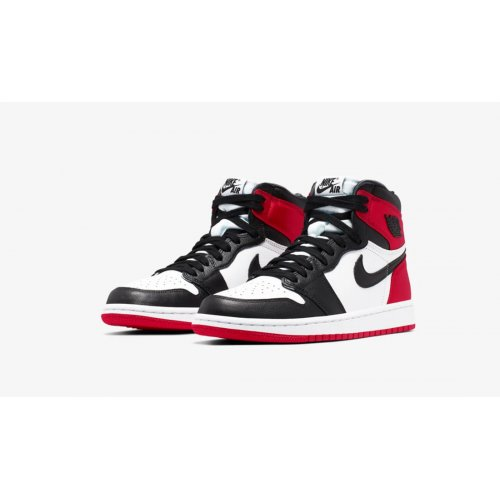 Shoes Hi top trainers Nike Air Jordan 1 High Satin Black Toe Black/Black-White-Varsity Red