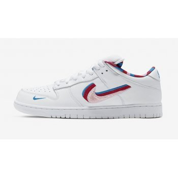 Shoes Low top trainers Nike SB Dunk Low x Parra WHITE/RED-PINK