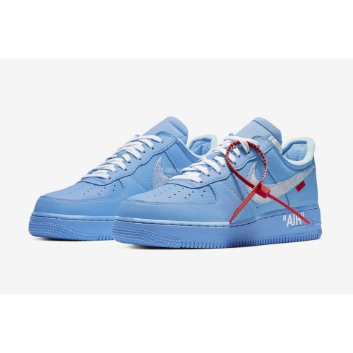 Shoes Low top trainers Nike Air Force 1 Low MCA University Blue/White-University Red-Metallic Silver