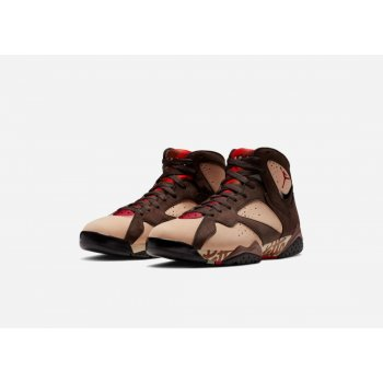 Shoes Hi top trainers Nike Air Jordan 7 x Patta Og Shimmer/Tough Red-Velvet Brown-Mahogany Pink
