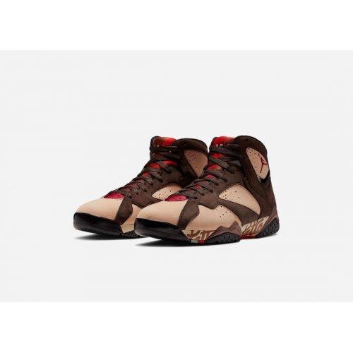 Shoes Hi top trainers Nike Air Jordan 7 x Patta Og Shimmer/Tough Red-Velvet Brown-Mahogany Pink