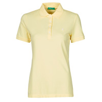 Clothing Women Short-sleeved polo shirts Benetton JOPLO Yellow
