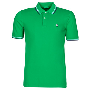 Clothing Men Short-sleeved polo shirts Benetton 3WG9J3181-108 Green