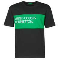 Clothing Men Short-sleeved t-shirts Benetton SOLILA Black