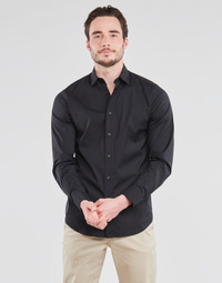 Clothing Men Long-sleeved shirts Benetton HUREL Black