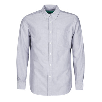 Clothing Men Long-sleeved shirts Benetton MIOT Blue