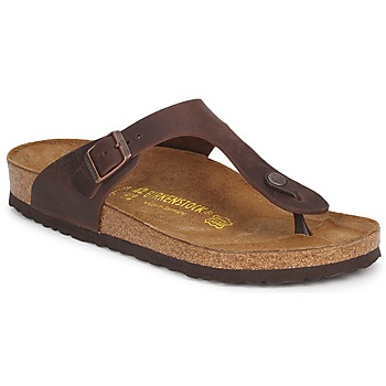Shoes Women Flip flops Birkenstock GIZEH PREMIUM Brown