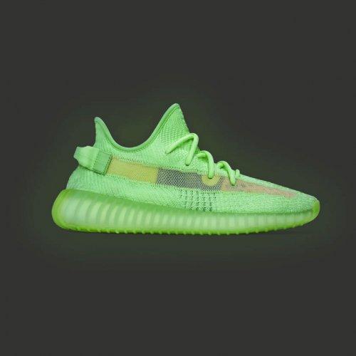 Shoes Low top trainers adidas Originals Yeezy 350 V2 Glow Glow/Glow/Glow