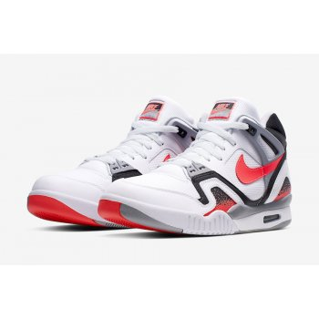Shoes Hi top trainers Nike Air Tech Challenge 2 Hot Lava White/Hot Lava-Black Silver