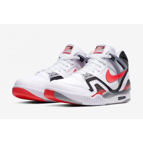 Shoes Hi top trainers Nike Air Tech Challenge 2 Hot Lava White/Hot Lava-Black Silver