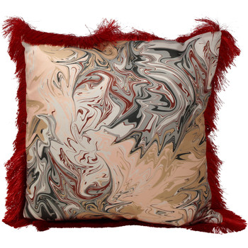 Home Cushions Rebecca J Mills Designs Baked fringed cushion 45x45 Red