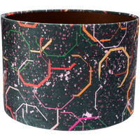 Home Lampshades and lamp bases Rebecca J Mills Designs Splash lampshade diameter 30x21 Multicolour