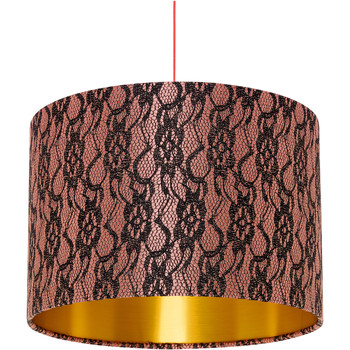 Home Lampshades and lamp bases Rebecca J Mills Designs Delicate 1 woven fringed lampshade diameter 35x23 Pink