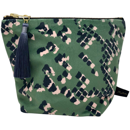 Bags Women Washbags Rebecca J Mills Designs Scaled 1 pouch wash bag small Green