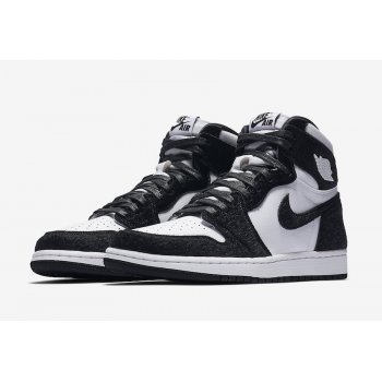Shoes Hi top trainers Nike Air Jordan 1 High Panda Black/Black-Metallic Gold-White