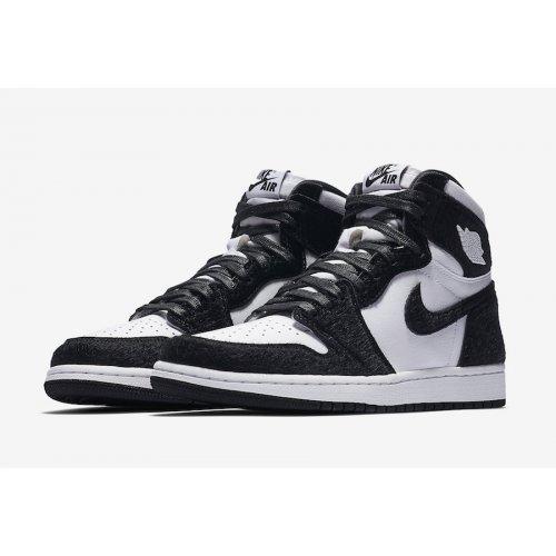 Shoes Hi top trainers Nike Air Jordan 1 High Panda Black/Black-Metallic Gold-White