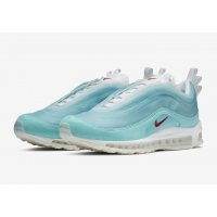 Shoes Low top trainers Nike Air Max 97 Shanghai Kaleidoscope Icy Blue/Red-White