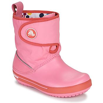 Shoes Children Snow boots Crocs CROCBAND ll.5 GUST BOOT KIDS PLEM PPY Pink