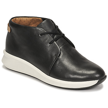Shoes Women Mid boots Clarks UN RIO MID Black