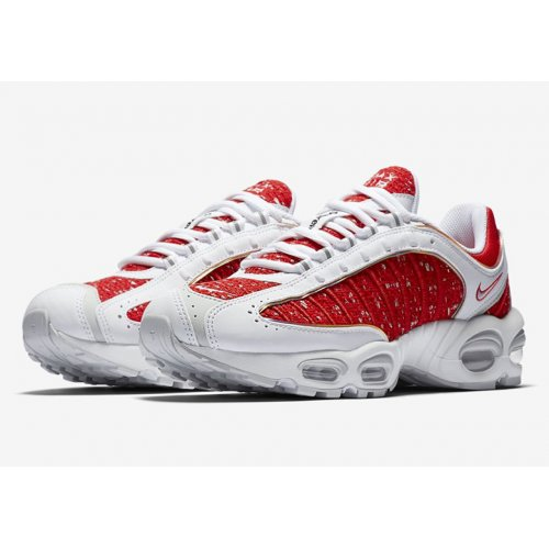 Shoes Low top trainers Nike Air Max Tailwind 4 x Supreme White/Red WHITE/UNIVERSITY RED-WHITE-GEYSER GREY