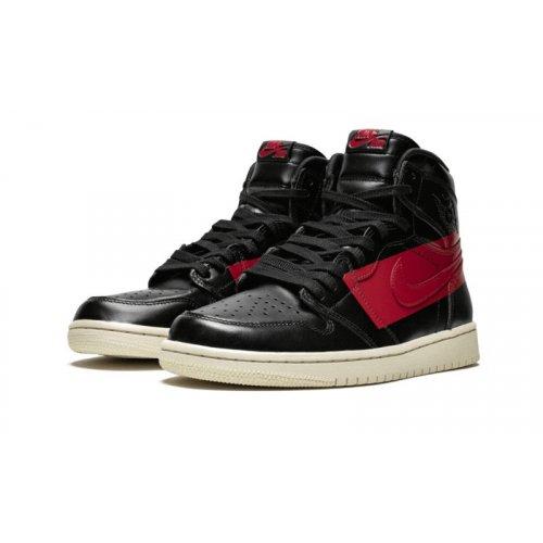 Shoes Hi top trainers Nike Air Jordan 1 High Couture Defiant Black/Gym Red-Muslin