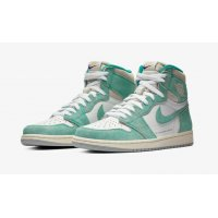 Shoes Hi top trainers Nike Air Jordan 1 High Turbo Green Turbo Green/White-Light Smoke Grey-Sail