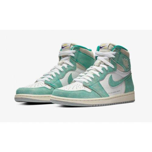 Shoes Hi top trainers Nike Air Jordan 1 High Turbo Green Turbo Green/White-Light Smoke Grey-Sail
