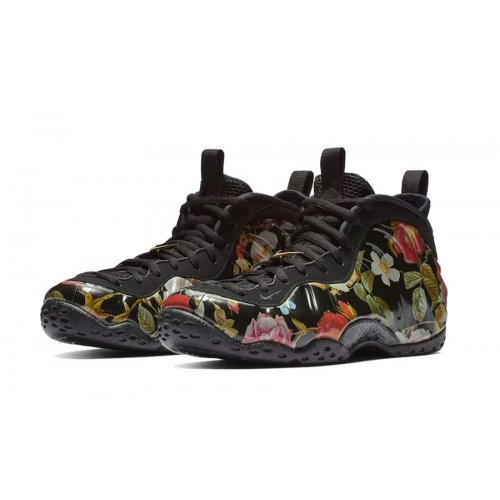 Shoes Hi top trainers Nike Air Foramposite One Floral Black/Multi-Color