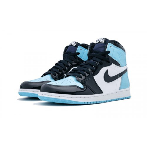Shoes Hi top trainers Nike Air Jordan 1 High UNC Patent Leather Obsidian/Blue Chill-White