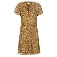 Clothing Women Short Dresses Naf Naf MARIA R1 Camel
