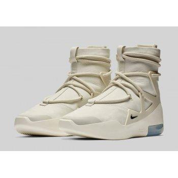 Shoes Hi top trainers Nike Air Fear Of God 1 Light Bone Light Bone/Black