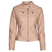 Clothing Women Leather jackets / Imitation leather Moony Mood ORNELLA Pink