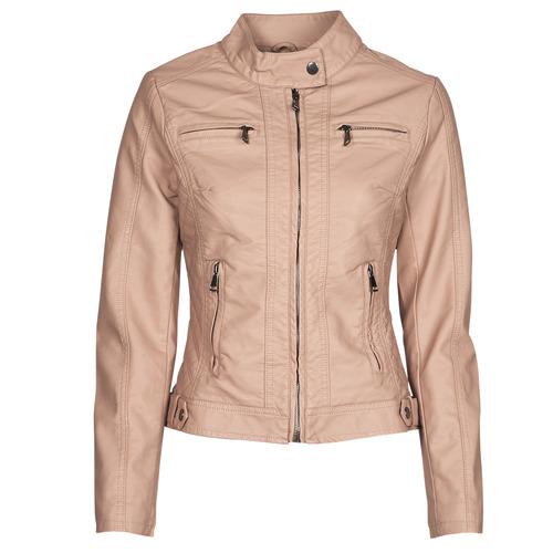 Clothing Women Leather jackets / Imitation leather Moony Mood PUIR Pink