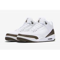 Shoes Low top trainers Nike Air Jordan 3 Dark Mocha White/Chrome-Dark Mocha