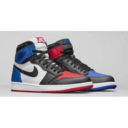 Shoes Hi top trainers Nike Air Jordan 1 High Top 3 Black/Sail-University Blue-Varsity Red