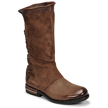 Shoes Women Mid boots Airstep / A.S.98 TEAL Brown