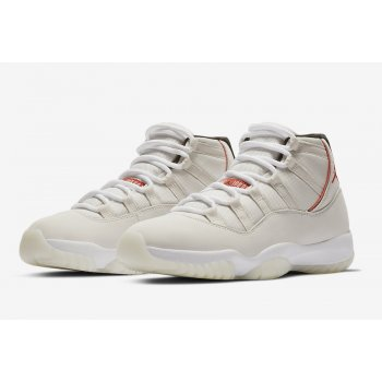 Shoes Hi top trainers Nike Air Jordan XI Platinum Tint  Platinum Tint/Sail-University Red