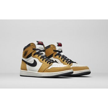 Shoes Hi top trainers Nike Air Jordan 1 High Rookie Of The Year Gold Harvest/Black