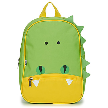 Bags Children Rucksacks Citrouille et Compagnie CROCODILE GREEN Green / Yellow