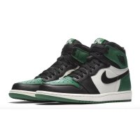 Shoes Hi top trainers Nike Air Jordan 1 High Pine Green 1.0 Pine Green/Sail-Black