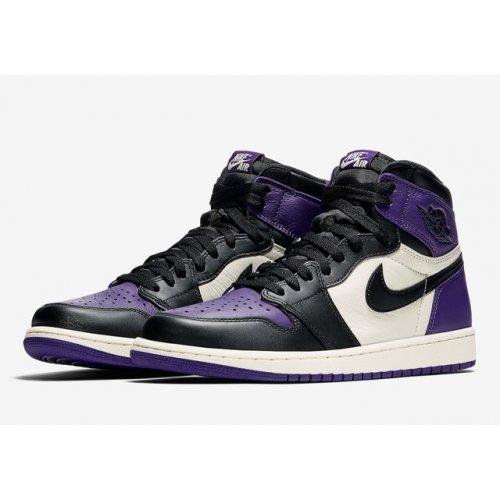 Shoes Hi top trainers Nike Air Jordan 1 High Court Purple 1.0 Court Purple/Sail-Black