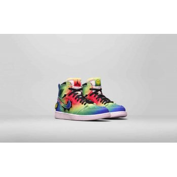 Shoes Hi top trainers Nike Air Jordan 1 High x J Balvin Multi-Color/Black-Pink Foam-Multi-Color